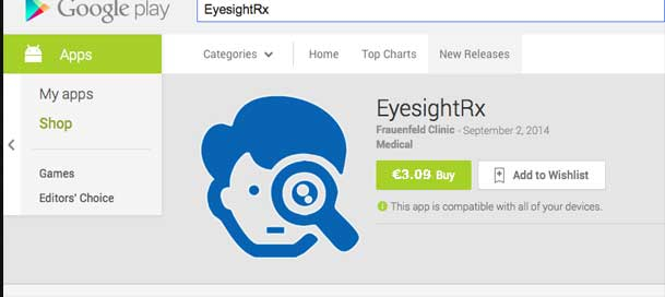 EyesightRx: Android App Update & Participants Free Download