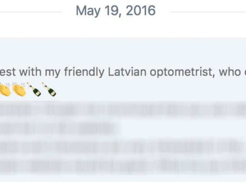First Ever:  Optometrist Confirms OWN Vision Improvement