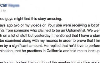 Help Out A Curious Optometrist:  If You Are In California