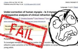 STUDIES: Does Undercorrection Cause More Myopia?