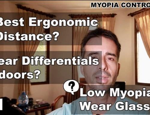 Q&A: Ergonomic Distance, Differentials Indoors, Low Myopia Glasses