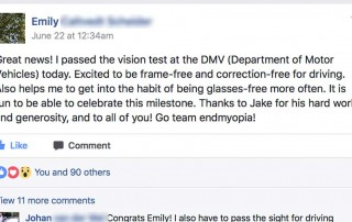 Back To 20/20: Emily Passes DMV Vision Test