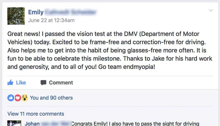 Back To 20/20: Emily Passes DMV Vision Test