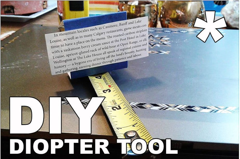 (Another) DIY Diopter Measuring Tool