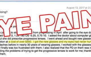 New Glasses:  Massive Eye Pain!