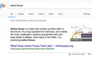 Endmyopia Now In Google Cards