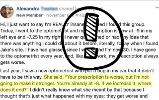 Optometrist:  Not Going To Increase Your Prescription