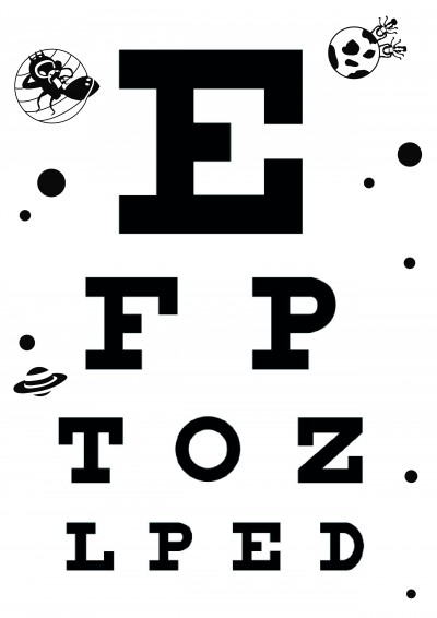 graphic regarding Printable Eye referred to as Down load Cost-free Eye Charts - A4 - Letter Measurement - 6 Meter - 3