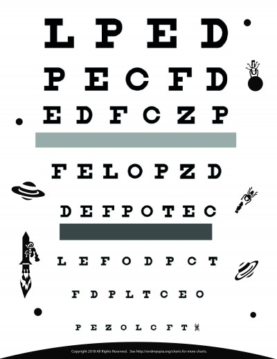 Download Free Eye Charts - A4 - Letter Size - 6 Meter - 3 Meter