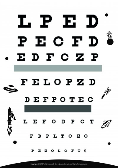 photo relating to Children's Eye Chart Printable known as Obtain Absolutely free Eye Charts - A4 - Letter Measurement - 6 Meter - 3