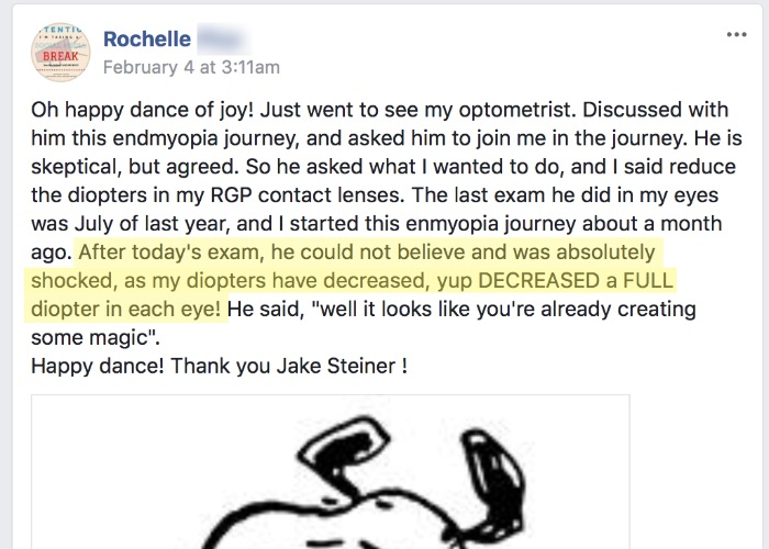 Rochelle: Optometrist Confirms 1 Diopter Gains! (*just a giant rant)