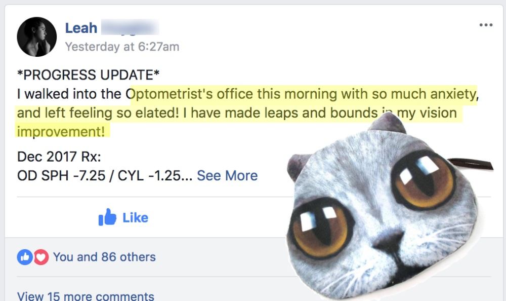 Leah From -8 D: Optometrist Confirms The 20/20 Gainnzz