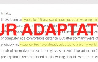 Long Term Uncorrected Low Myopia Blur Adaptation