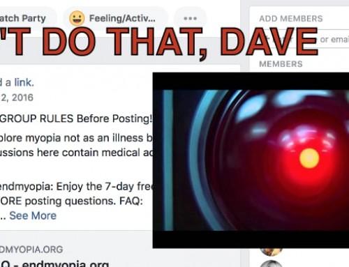 Shocking Reveal:  ALL Endmyopia Facebook Members Are BOTS?!
