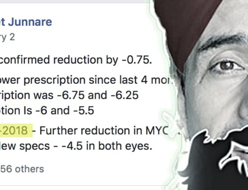 Aniket: -6.75 Down To -4.50 (Optometrist Confirmed)