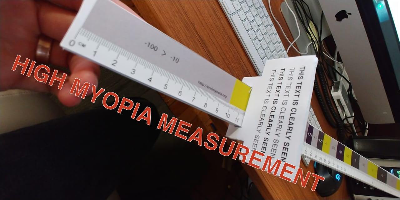 High Myopia Measuring Tool: Nate Tweaks The Diopter Tape
