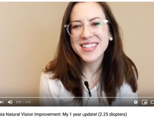 Video:  Leah Improving From -8.00 To -5.75 Diopters