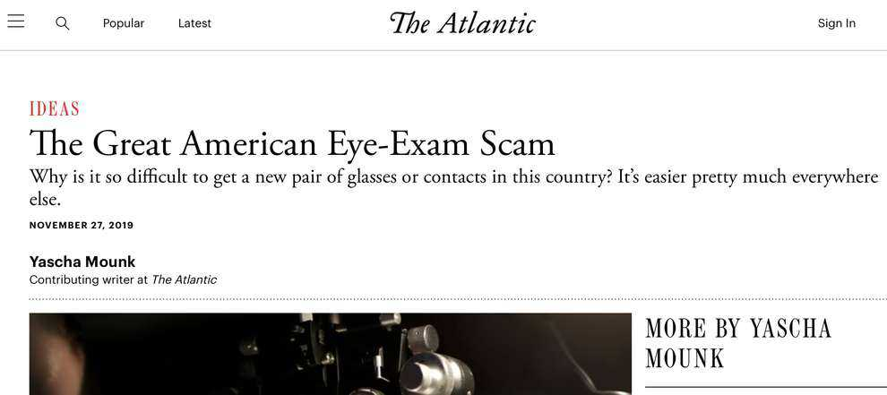 American Eye Exam Scam