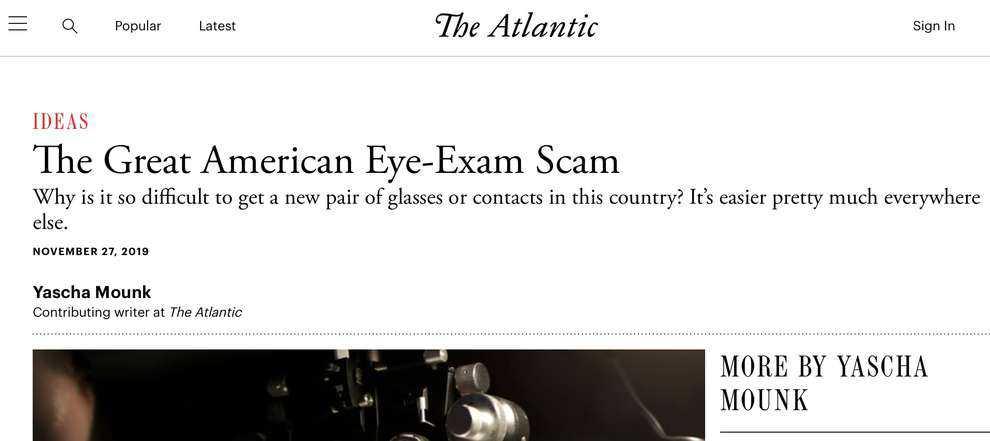 American Eye Exam Scam